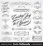 easter calligraphy set, useful decoration elements; scalable and editable vector illustration; Stock Photo - Royalty-Free, Artist: milalala                      , Code: 400-04353317