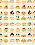 seamless people face pattern Stock Photo - Royalty-Free, Artist: notkoo2008                    , Code: 400-04353420