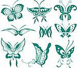 Butterfly Illustration Stock Photo - Royalty-Free, Artist: pauljune                      , Code: 400-04353442