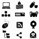 Computer and technology icon set Stock Photo - Royalty-Free, Artist: soleilc                       , Code: 400-04354517