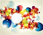Abstract vector illustration with transparent splashes and bubbles Stock Photo - Royalty-Free, Artist: marinakim                     , Code: 400-04354565