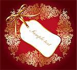 Holiday card with background Stock Photo - Royalty-Free, Artist: marinakim                     , Code: 400-04354579