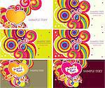 Vector set of business cards Stock Photo - Royalty-Free, Artist: marinakim                     , Code: 400-04354599