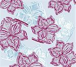 Classical wall-paper with a flower pattern Stock Photo - Royalty-Free, Artist: marinakim                     , Code: 400-04354684