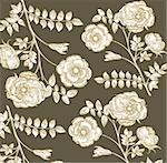 Classical wall-paper with a flower pattern Stock Photo - Royalty-Free, Artist: marinakim                     , Code: 400-04354687