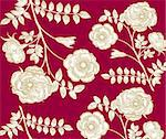 Classical wall-paper with a flower pattern Stock Photo - Royalty-Free, Artist: marinakim                     , Code: 400-04354688