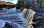 Northern Michigan UP Waterfalls Upper Peninsula Autumn Fall Colors Tahquamenon Falls