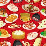 seamless chinese food pattern Stock Photo - Royalty-Free, Artist: notkoo2008                    , Code: 400-04355644