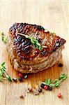 juicy sirloin beef with branches of thyme covered in pepper Stock Photo - Royalty-Free, Artist: Dream79                       , Code: 400-04355797