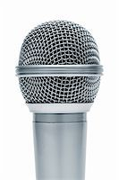Beautiful new microphone on a white background Stock Photo - Royalty-Freenull, Code: 400-04355818