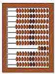 vector old wooden abacus detailed, scalable and editable Stock Photo - Royalty-Free, Artist: tottoro                       , Code: 400-04356290
