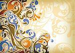 Illustration of abstract scrolls background. Stock Photo - Royalty-Free, Artist: billyphoto2008                , Code: 400-04358192