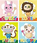 cartoon animal card Stock Photo - Royalty-Free, Artist: notkoo2008                    , Code: 400-04359251