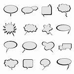 Talk, thought and speech balloons or bubbles Stock Photo - Royalty-Free, Artist: soleilc                       , Code: 400-04359609
