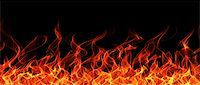 Seamless fire and flame border on black background Stock Photo - Royalty-Freenull, Code: 400-04359618