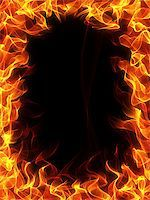 Fire and flame frame on black background Stock Photo - Royalty-Freenull, Code: 400-04359619