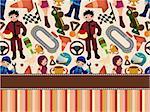 cartoon f1 card