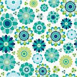 Floral seamless pattern Stock Photo - Royalty-Free, Artist: OlgaYakovenko                 , Code: 400-04360057