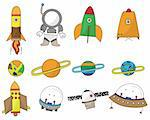 cartoon space icon Stock Photo - Royalty-Free, Artist: notkoo2008                    , Code: 400-04360179