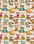 seamless animal tea time pattern Stock Photo - Royalty-Free, Artist: notkoo2008                    , Code: 400-04360184