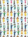 seamless doctor and nurse pattern