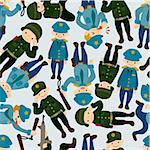 seamless police and army pattern