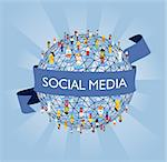 Social media network connection concept Stock Photo - Royalty-Free, Artist: cienpiesnf                    , Code: 400-04361443