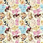 seamless animal pattern Stock Photo - Royalty-Free, Artist: notkoo2008                    , Code: 400-04361500
