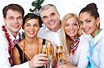 Photo of businesspeople with flutes of sparkling champagne Stock Photo - Royalty-Free, Artist: pressmaster                   , Code: 400-04362134