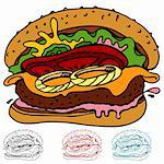 An image of a juicy hamburger. Stock Photo - Royalty-Free, Artist: cteconsulting                 , Code: 400-04362372