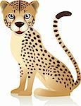 Cheetah cartoon Stock Photo - Royalty-Free, Artist: dagadu                        , Code: 400-04362549