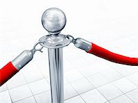 queue club - Illustration of velvet rope and stand close up Stock Photo - Royalty-Freenull, Code: 400-04362768