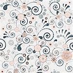 Floral seamless background of elegant colors. Vector illustration.