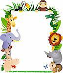 Animal cartoon frame Stock Photo - Royalty-Free, Artist: dagadu                        , Code: 400-04363458