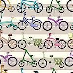 seamless bicycle pattern Stock Photo - Royalty-Free, Artist: notkoo2008                    , Code: 400-04364426