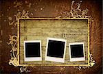 Blank photo frame Stock Photo - Royalty-Free, Artist: ilolab                        , Code: 400-04364985