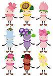 cartoon flower fairy icon Stock Photo - Royalty-Free, Artist: notkoo2008                    , Code: 400-04365487