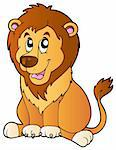 Cartoon sitting lion - vector illustration. Stock Photo - Royalty-Free, Artist: clairev                       , Code: 400-04365840
