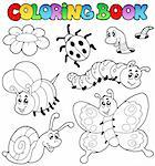 Coloring book with small animals 2 - vector illustration. Stock Photo - Royalty-Free, Artist: clairev                       , Code: 400-04365849