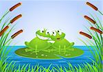Frog in love Stock Photo - Royalty-Free, Artist: dagadu                        , Code: 400-04367662