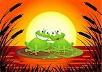 Frog in love Stock Photo - Royalty-Free, Artist: dagadu                        , Code: 400-04367667