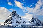 Beautiful snow-capped mountains against the blue sky in Antarctica Stock Photo - Royalty-Free, Artist: goinyk                        , Code: 400-04368154