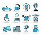 airport, travel and transportation icons 2 - vector icon set Stock Photo - Royalty-Free, Artist: stoyanh                       , Code: 400-04368321