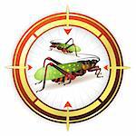 Sniper target with grasshopper Stock Photo - Royalty-Free, Artist: Merlinul                      , Code: 400-04368418