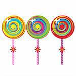 Set of colorful lollipops. Illustration on white background Stock Photo - Royalty-Free, Artist: dvarg                         , Code: 400-04368620