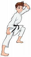 Young boy, Karate Player. Vector cartoon isolated character Stock Photo - Royalty-Freenull, Code: 400-04369150