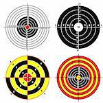 Set targets for practical pistol shooting, exercise. Vector illustration Stock Photo - Royalty-Free, Artist: aarrows                       , Code: 400-04369311