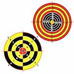 Set targets for practical pistol shooting, exercise. Vector illustration Stock Photo - Royalty-Free, Artist: aarrows                       , Code: 400-04369312