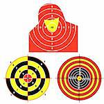 Set targets for practical pistol shooting, exercise. Vector illustration Stock Photo - Royalty-Free, Artist: aarrows                       , Code: 400-04369313