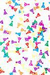 colored holiday confetti spilled on white Stock Photo - Royalty-Free, Artist: raysay                        , Code: 400-04369854
